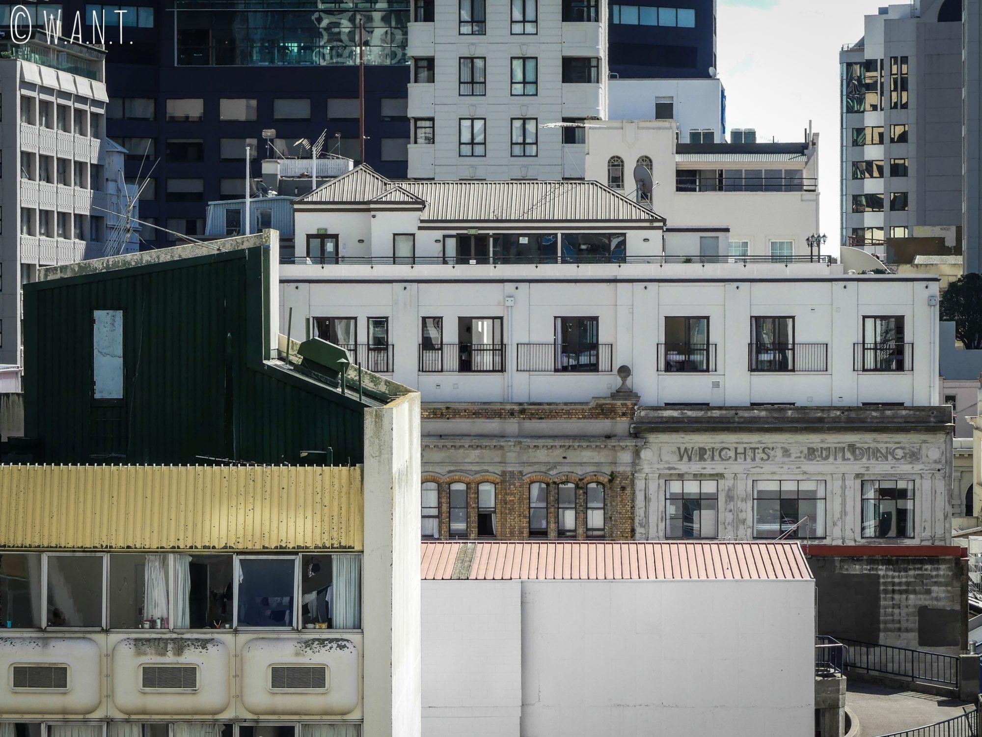Focus sur l'architecture du centre ville d'Auckland
