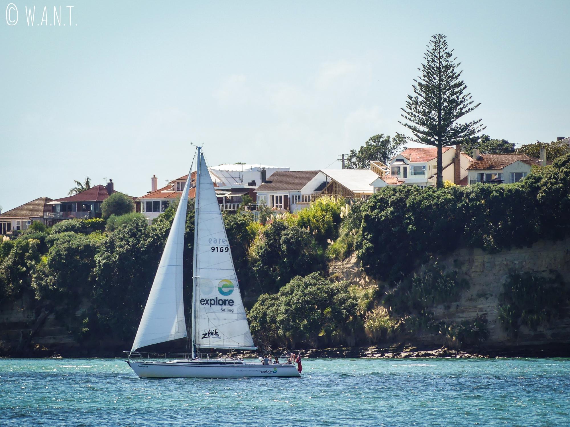 Vue sur la baie d'Auckland