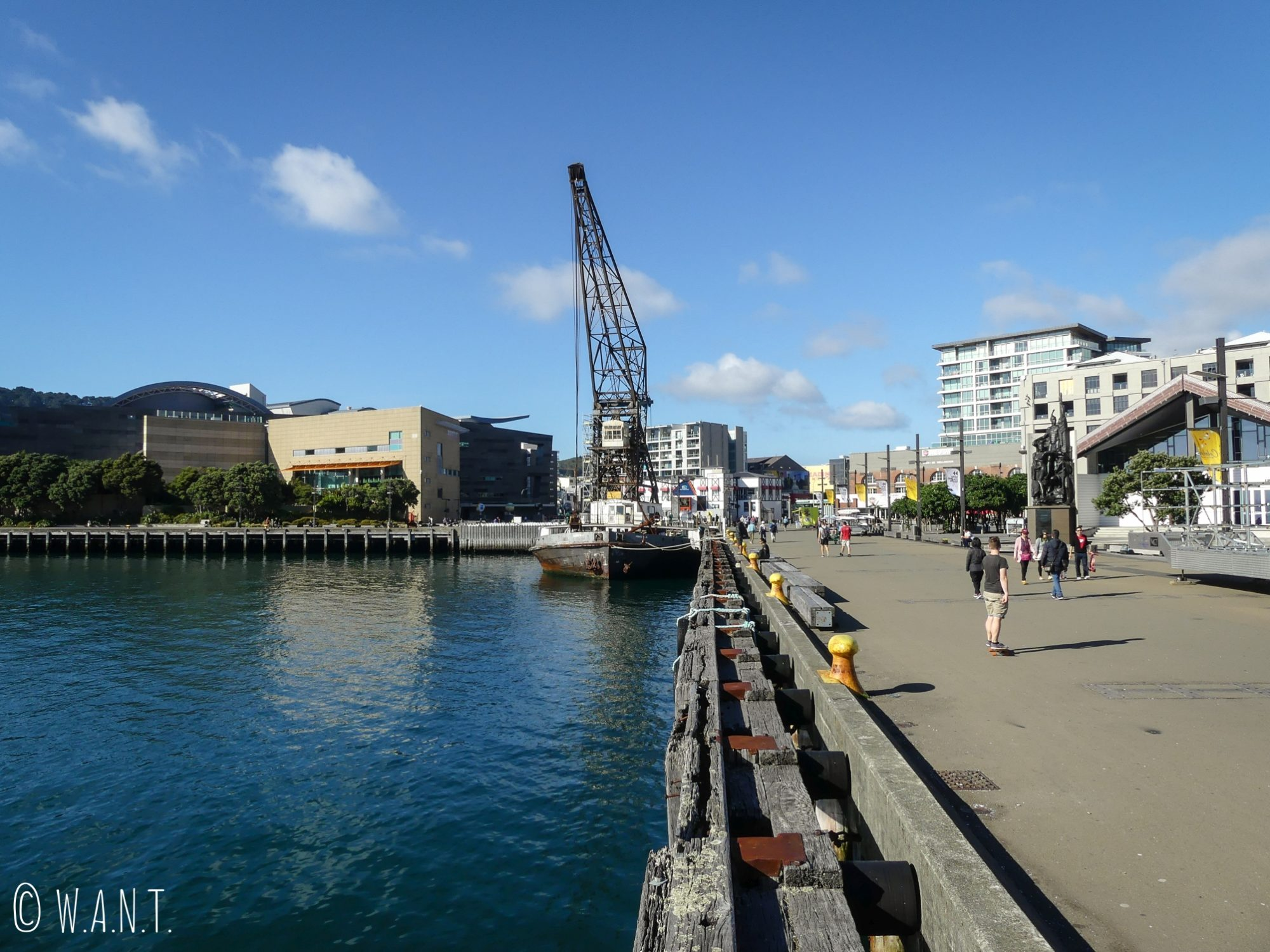 Il est très agréable de se promener le long des quais, dans le centre-ville de Wellington