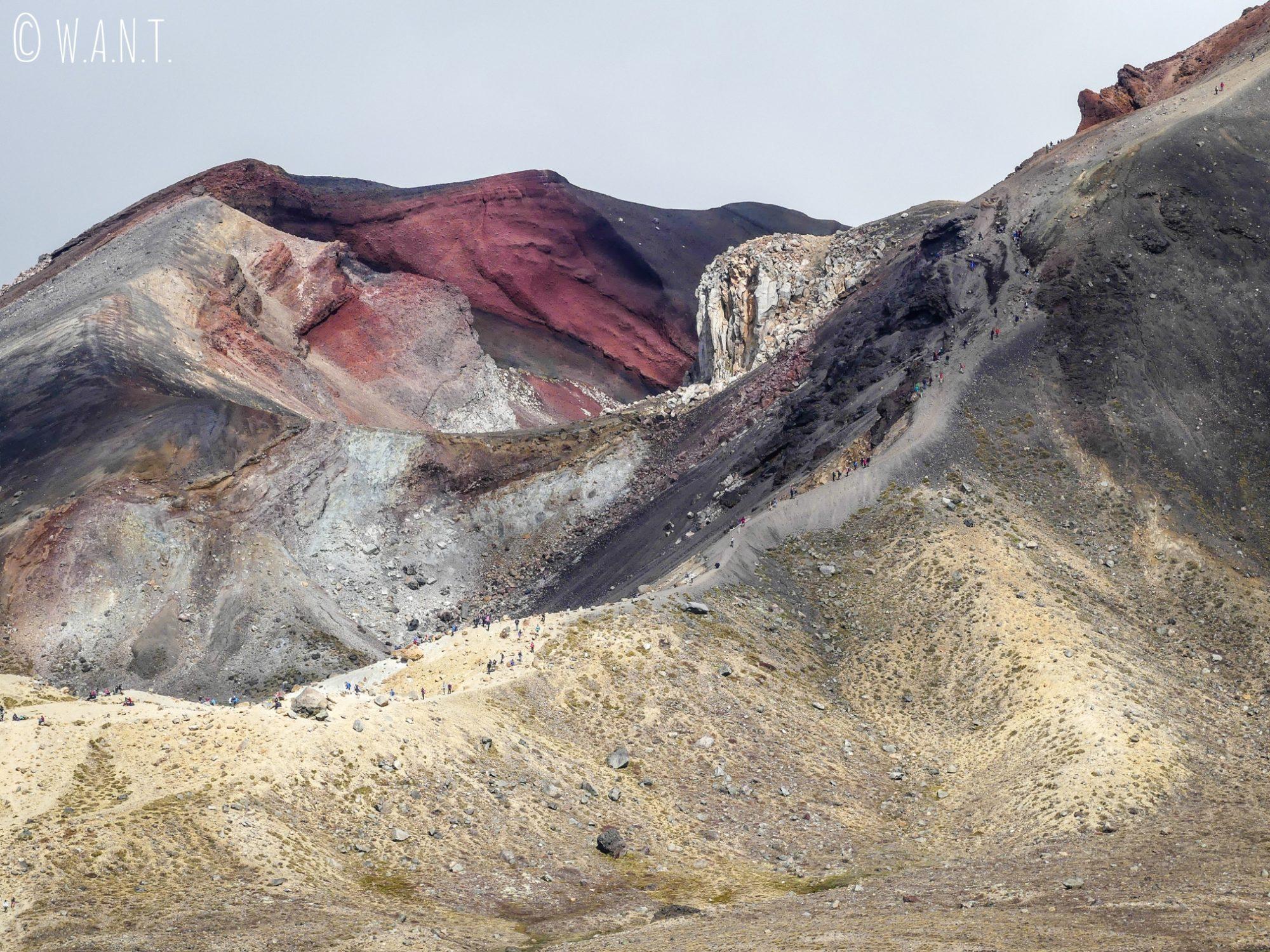 Incroyable de s'imaginer que nous avons descendu le long du Red Crater en Nouvelle-Zélande