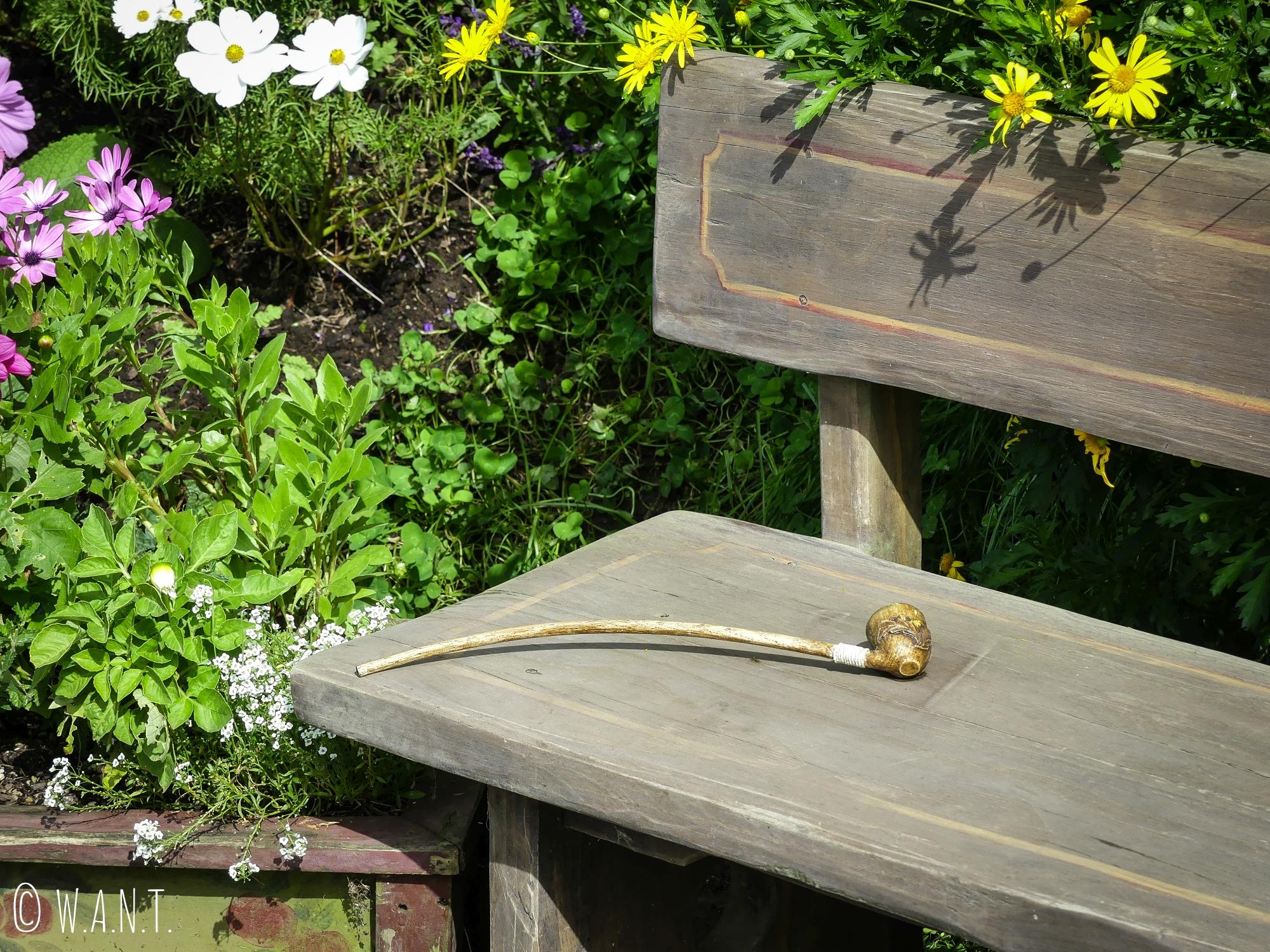 La pipe de Gandalf est restée sur un banc de Hobbiton en Nouvelle-Zélande