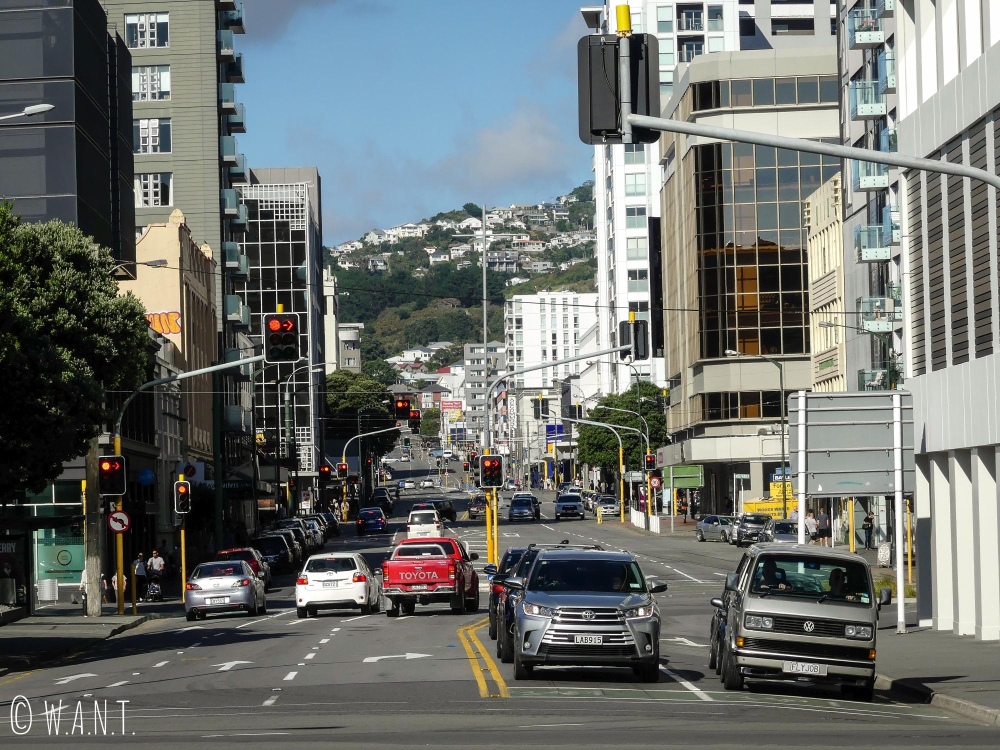 La ville de Wellington a, elle aussi, du dénivelé