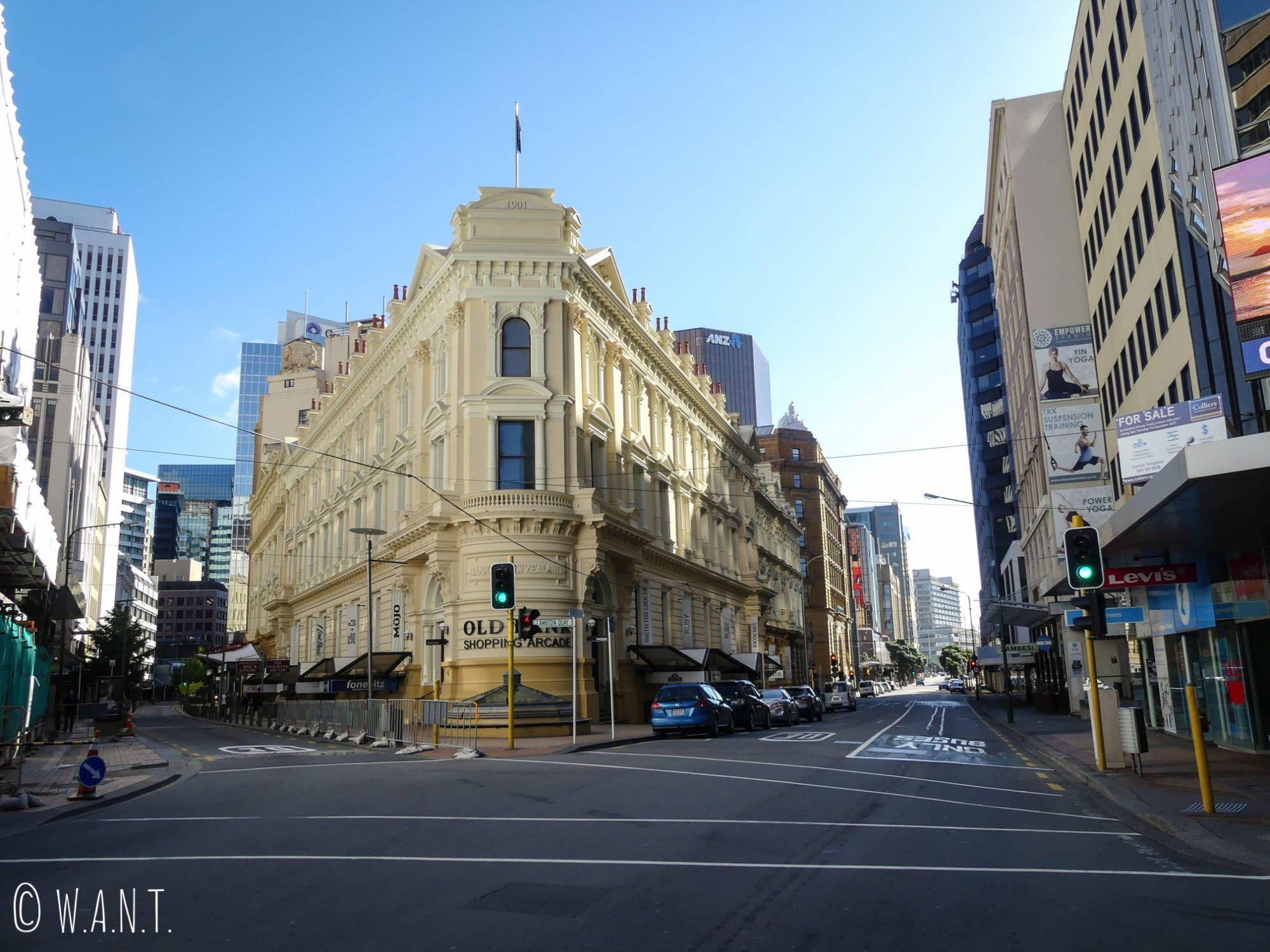 L'architecture moderne se mélange à merveille avec les bâtiments anciens à Wellington