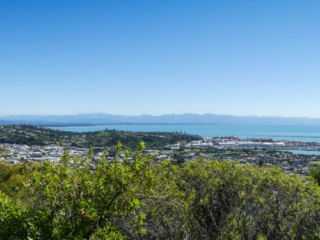 Point de vue sur la ville de Nelson en Nouvelle-Zélande, depuis la Botanical Hill