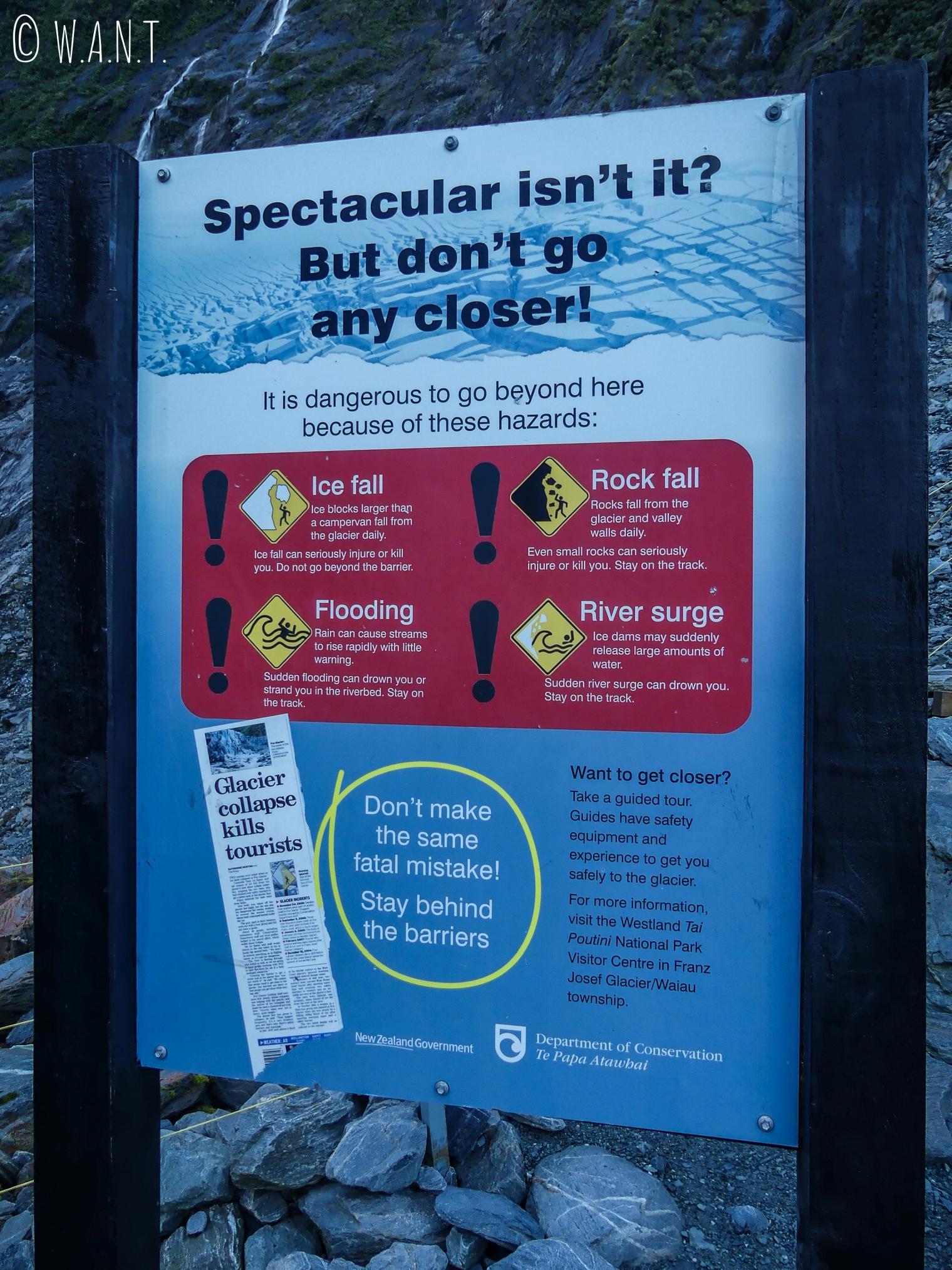 Il n'est pas nécessaire de s'approcher du Franz Joseph Glacier en Nouvelle-Zélande pour l'observer