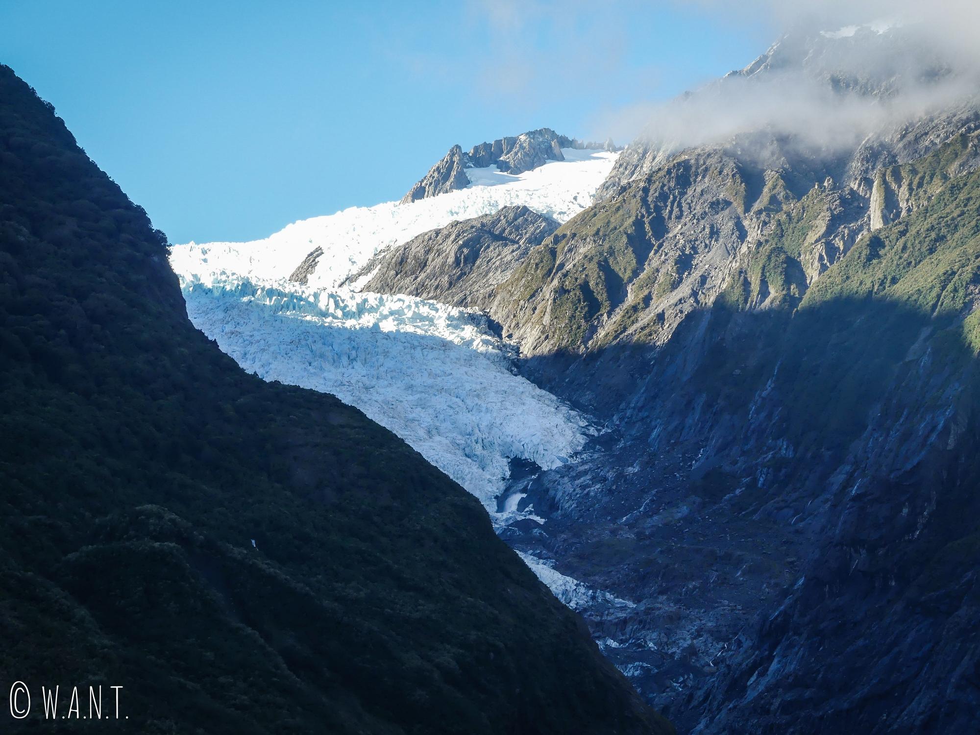 Le Franz Joseph Glacier en Nouvelle-Zélande fond un peu plus chaque année