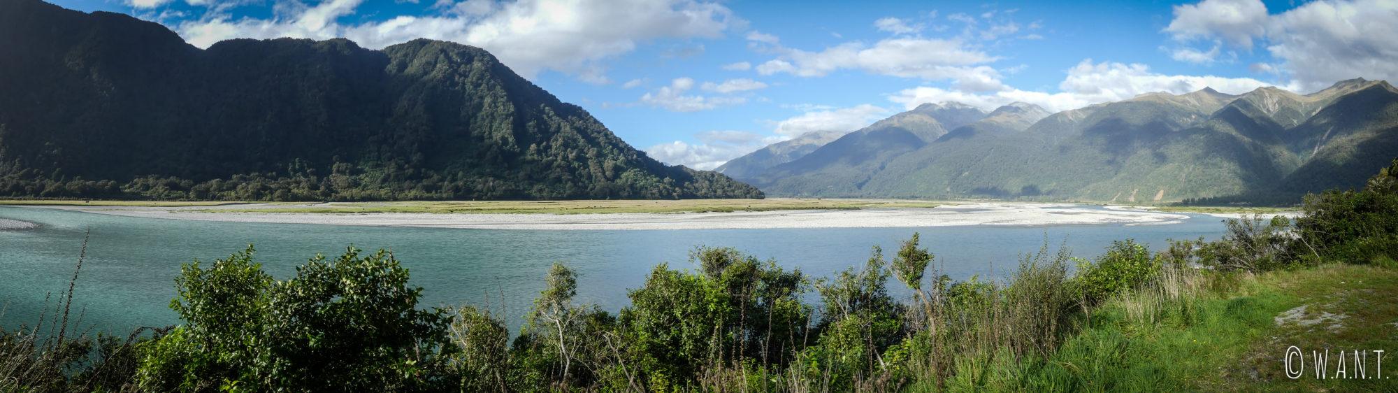 Magnifique paysage du Haast Pass sur l'île du sud de la Nouvelle-Zélande