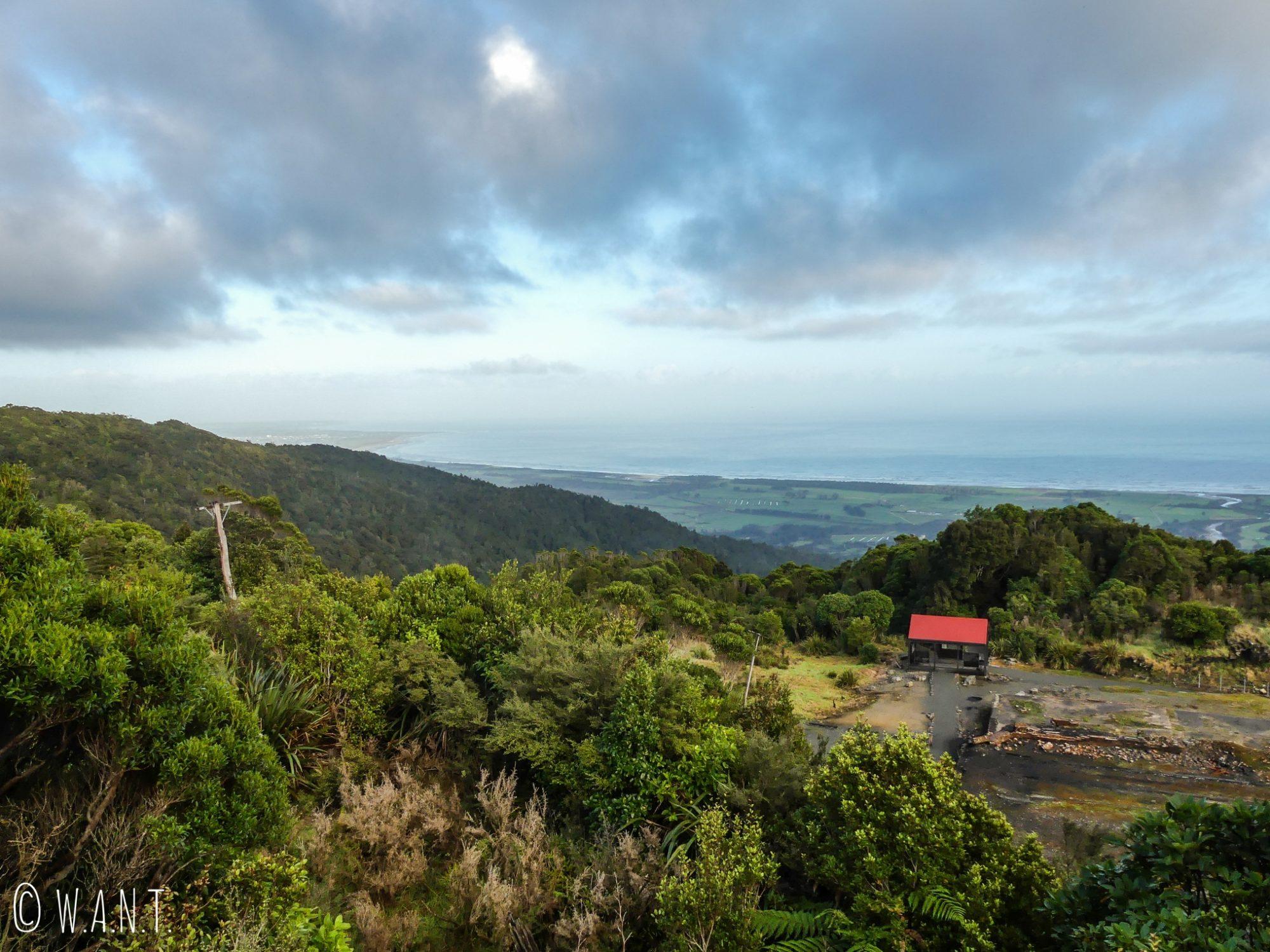 Point de vue de Denniston en Nouvelle-Zélande