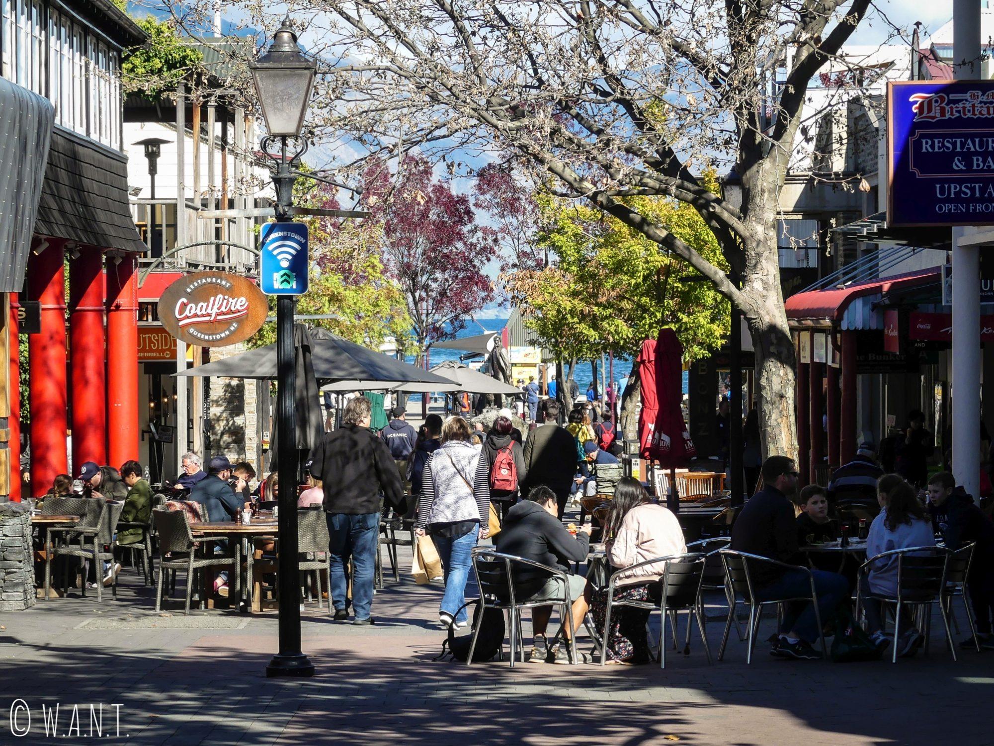 Centre-ville de Queenstown en Nouvelle-Zélande