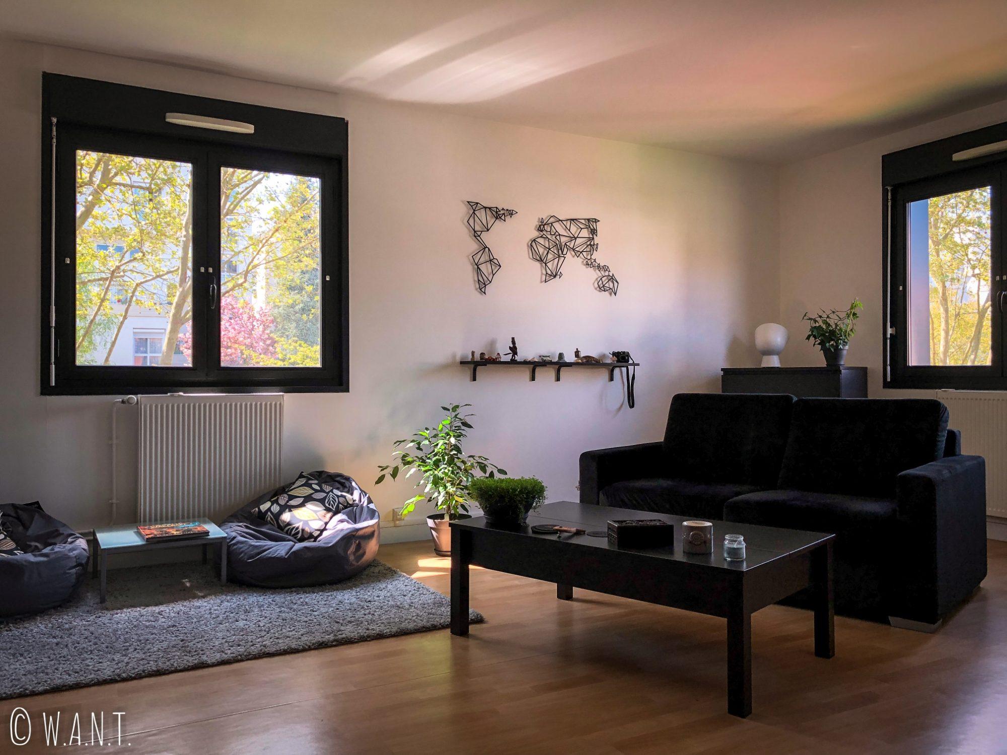 Le salon de notre appartement de Yerres