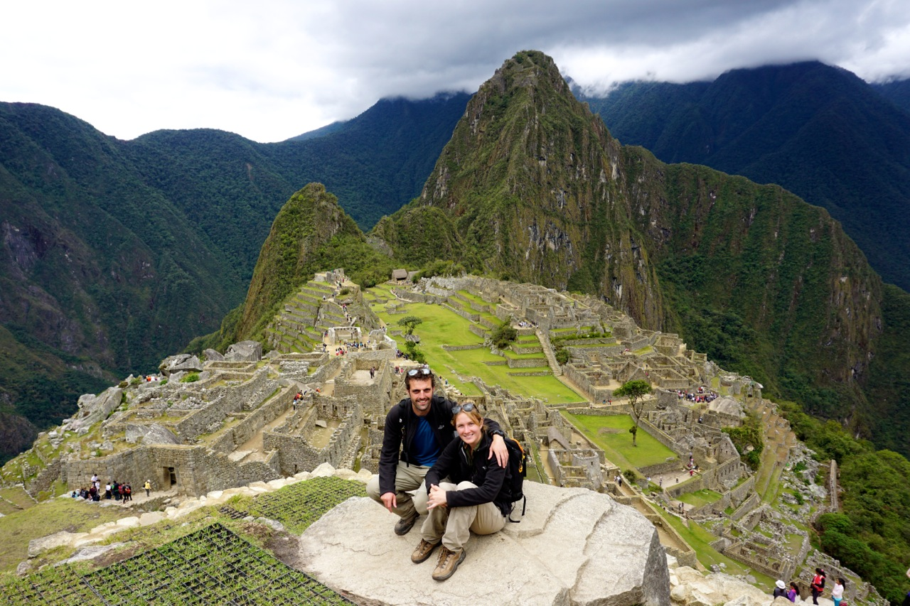 Elodie et Mathieu au Machu Picchu au Mexique