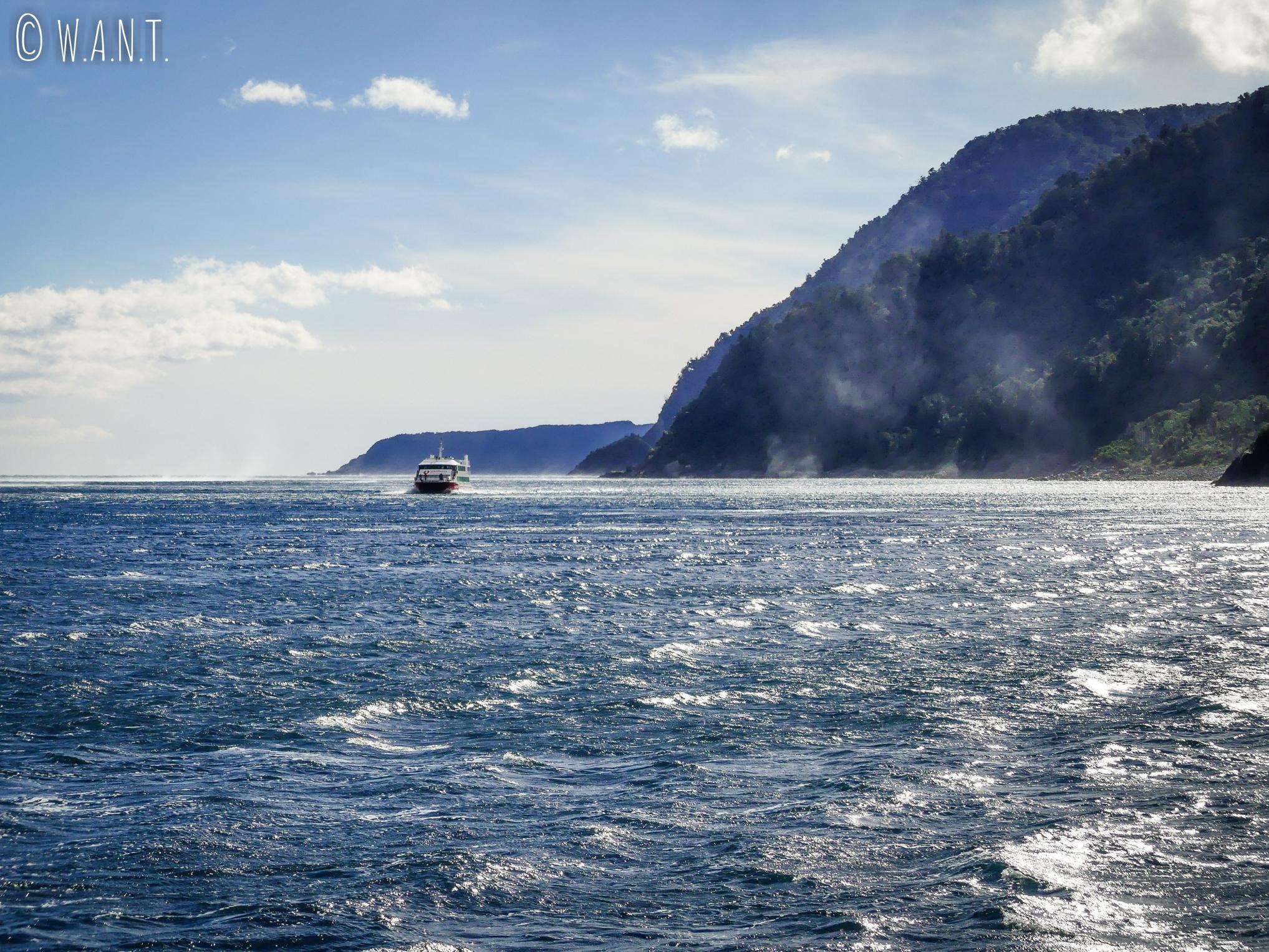 Arrivée sur la mer de Tasman en Nouvelle-Zélande