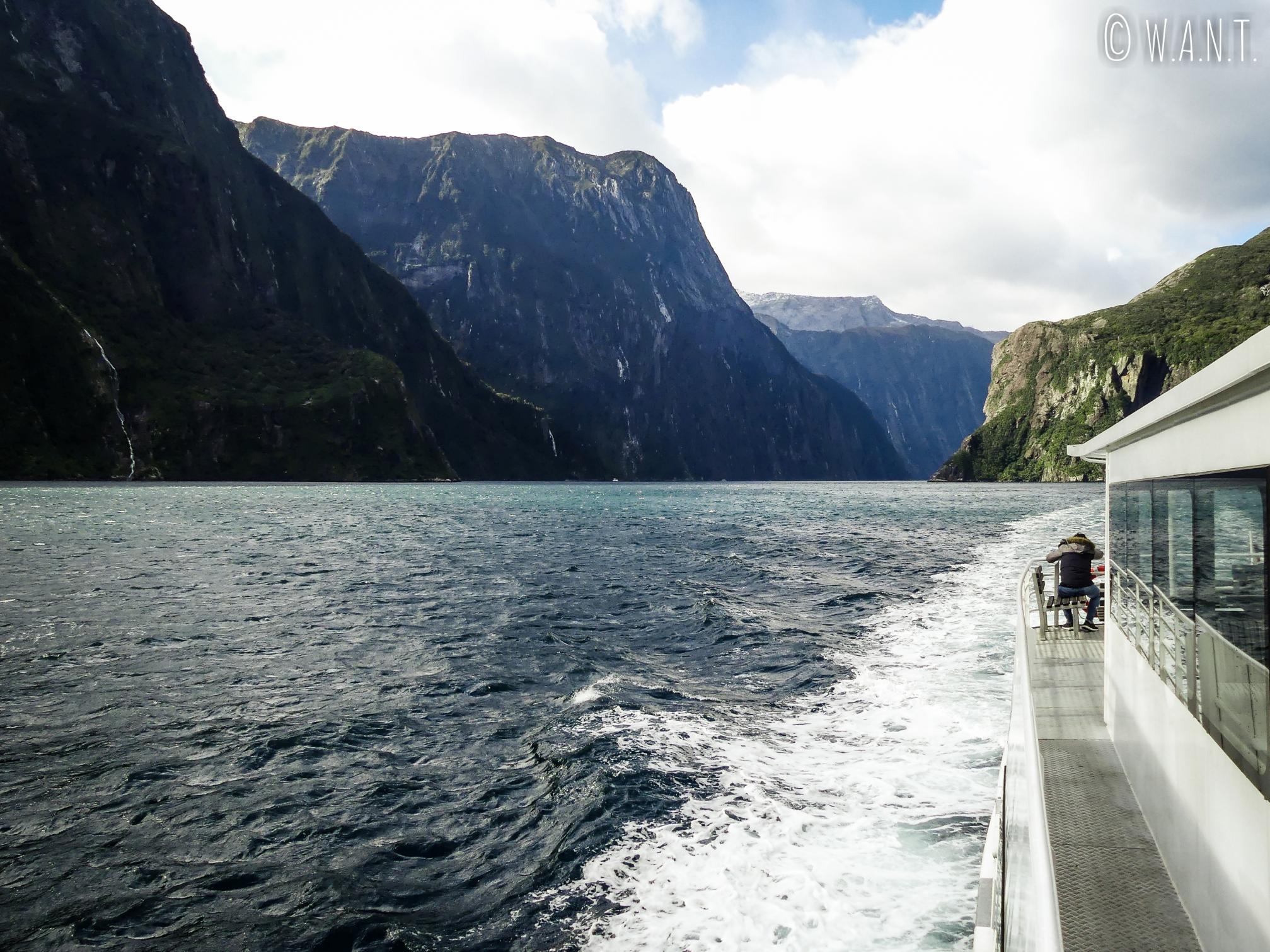 C'est parti pour une croisière sur le Milford Sound en Nouvelle-Zélande