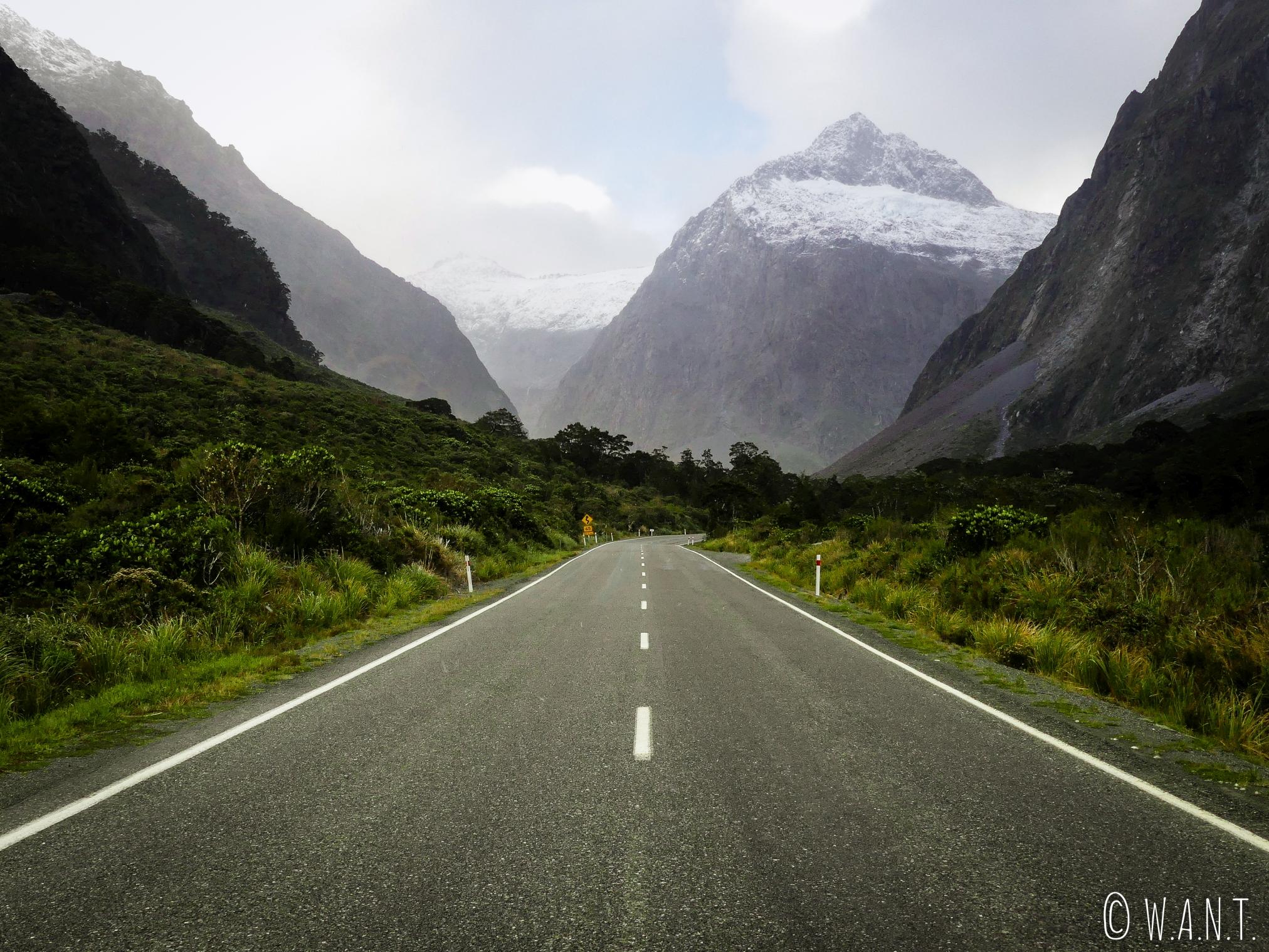 En route vers Milford Sound en Nouvelle-Zélande